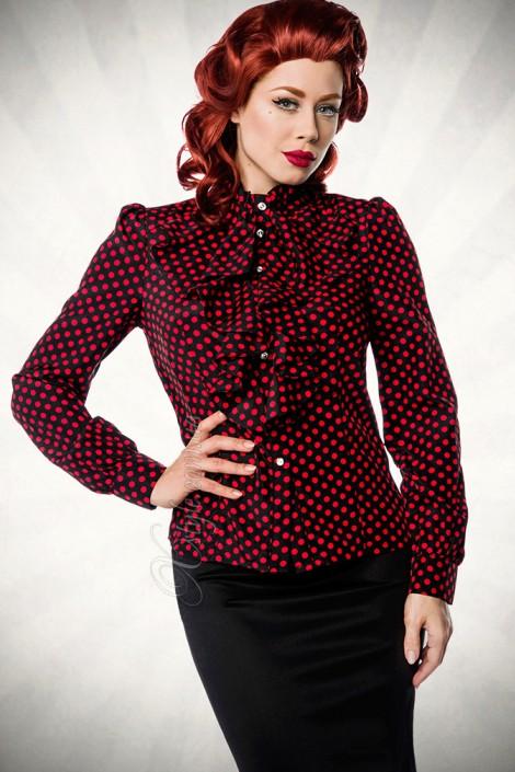 Блузка в стиле ретро (101158)