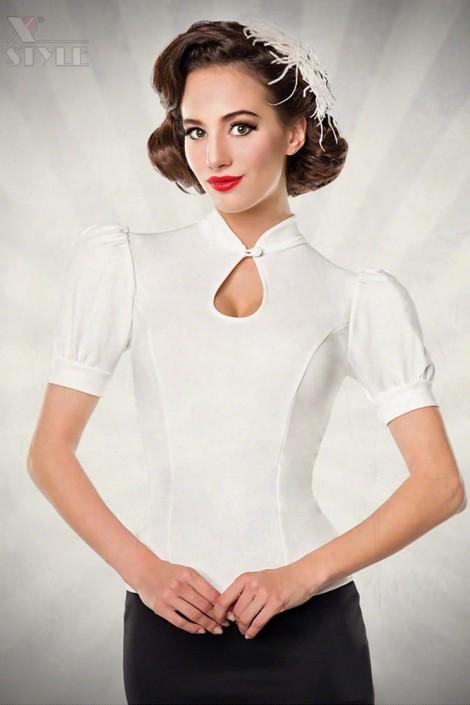 Приталенная блузка в стиле Ретро Belsira (101190)