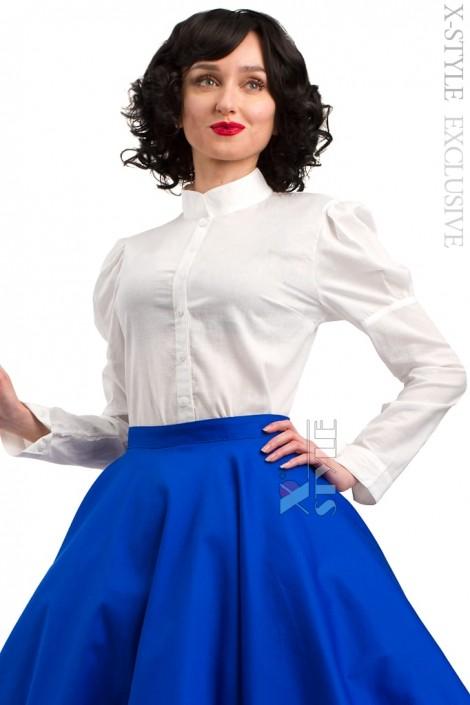 Винтажная белая блуза X-Style (101198)