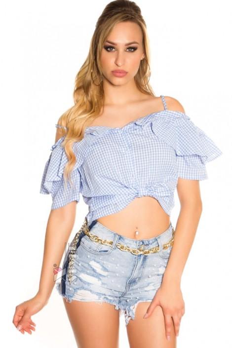 Летняя блузка с завязками спереди MF1201 (101201)