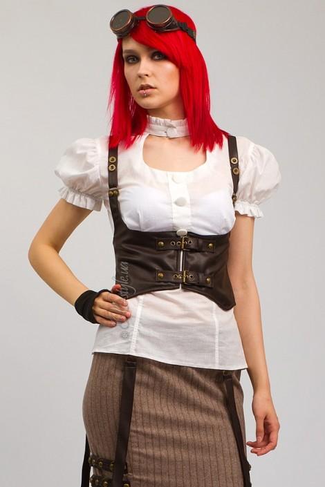 Белая блузка с декольте X-Style (101182)
