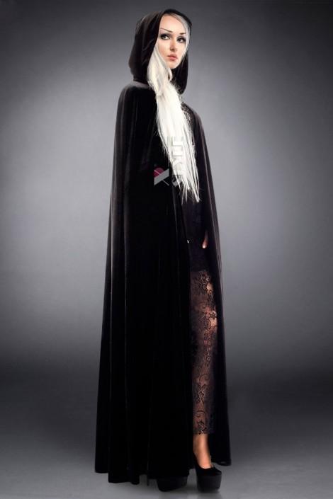 Длинная черная накидка (122005)