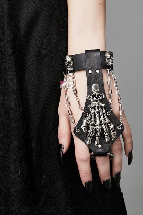 Браслет с кольцом Рука скелета CC145 (710145)