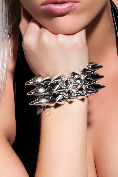 Серебристый браслет с шипами X137 (710137)
