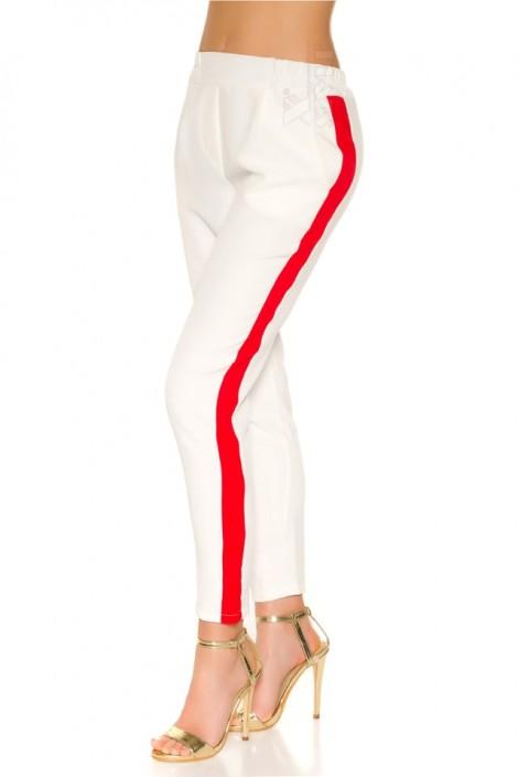 Белые брюки с лампасами MF8092 (108092)