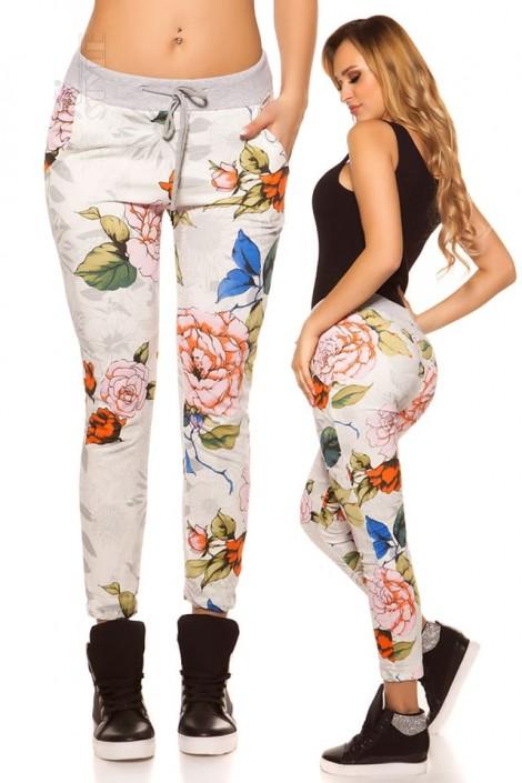 Хлопковые джоггеры с цветочным рисунком (108097)