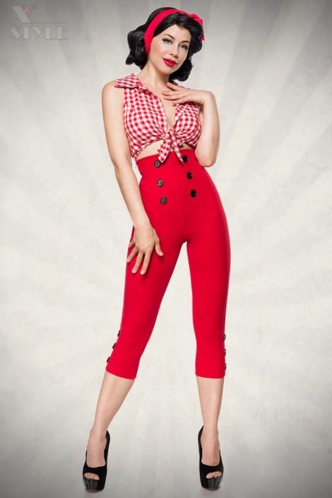 Красные брюки в стиле Ретро (108054)