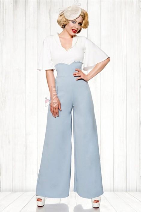Широкие брюки в стиле Марлен (108059)