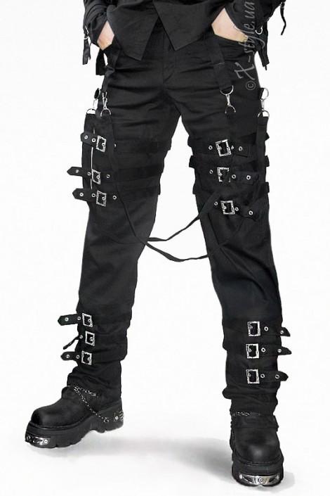 Мужские брюки с пряжками (207001)