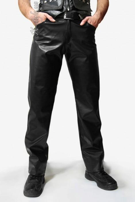 Мужские кожаные брюки (207003)