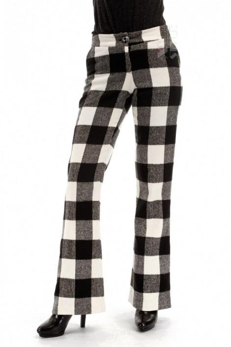 Теплые брюки-клеш (108049)
