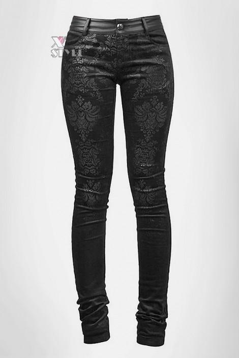Узкие черные брюки Punk Rave (108052)
