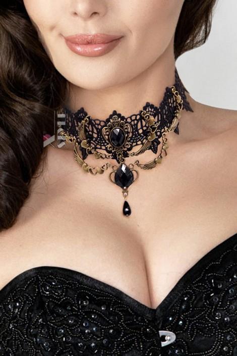 Винтажное ожерелье-чокер XJ6218 (706218)