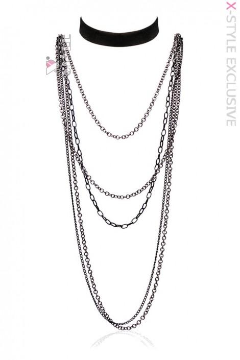Длинное ожерелье и чокер XA222 (706222)