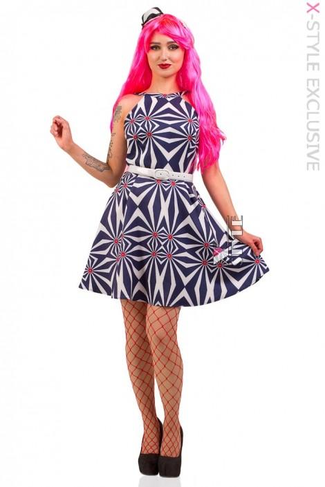 Платье Candy Girl с поясом и шляпкой (105437)