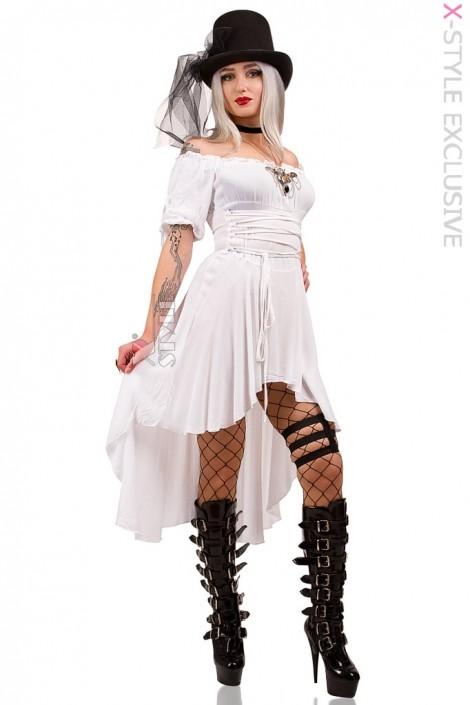 Белое пиратское платье X-Style (105438)