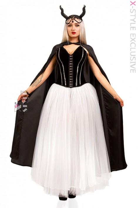 Костюм Demoniq (корсет, юбка, мантия, браслет, головной убор) (118058)