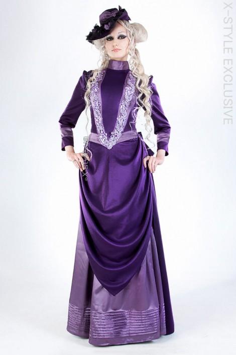 Прогулочное платье в стиле конца 19 ст. (125028)