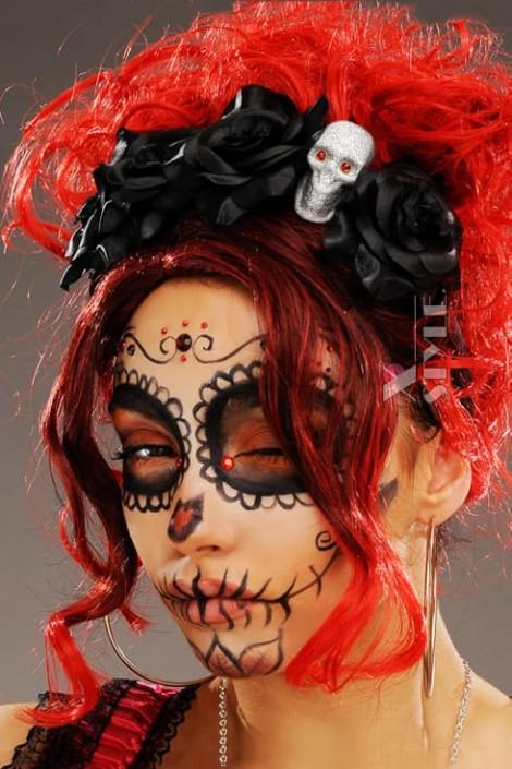 Обруч с черными розами La muerte (504222)