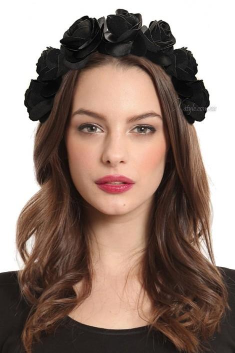 Обруч с черными розами (ручная работа) (504204)