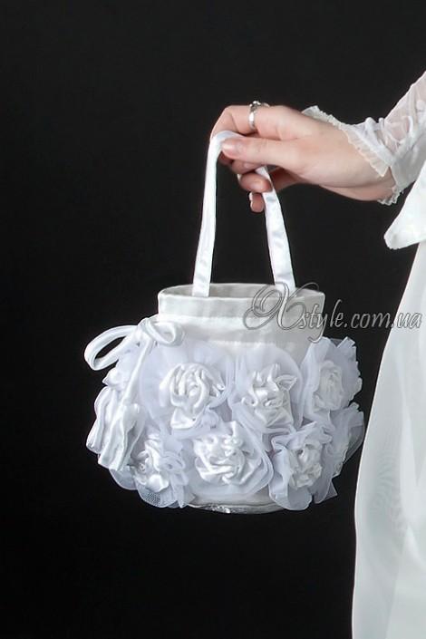 Белая сумочка с розами (ручная работа) (301025)