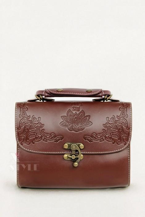 Винтажная сумочка с тиснением (301062)