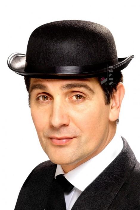 Шляпа-котелок черная Cosplay Couture (501140)