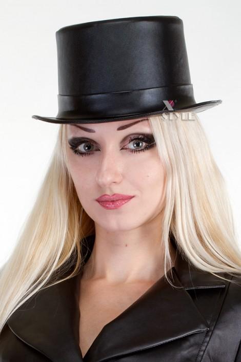 Кожаная шляпа-цилиндр (501012)