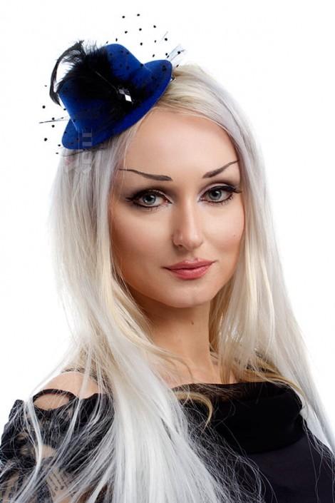 Синяя вечерняя шляпка X-Style (502058)