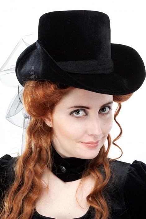 Женская шляпа из бархата (502055)