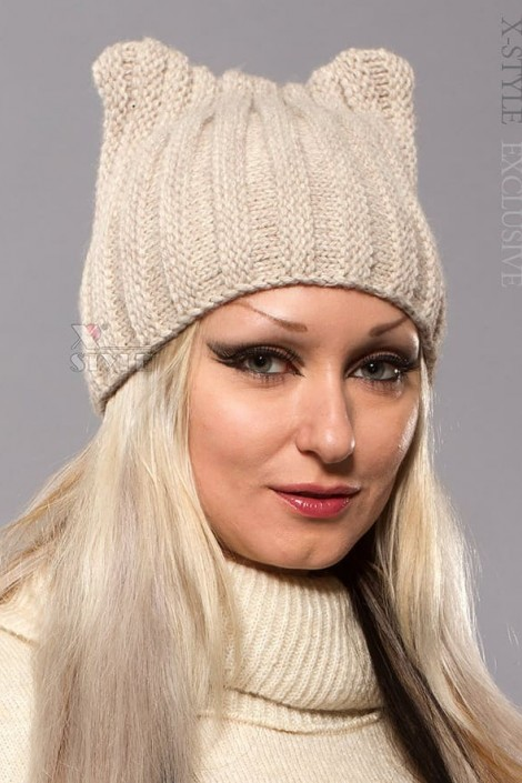 Зимняя шапка с ушками (502051) (502051)