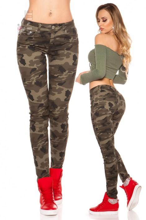Камуфляжные женские джинсы MF8078 (108078)