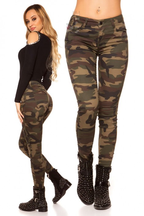 Камуфляжные женские джинсы MF8087 (108087)