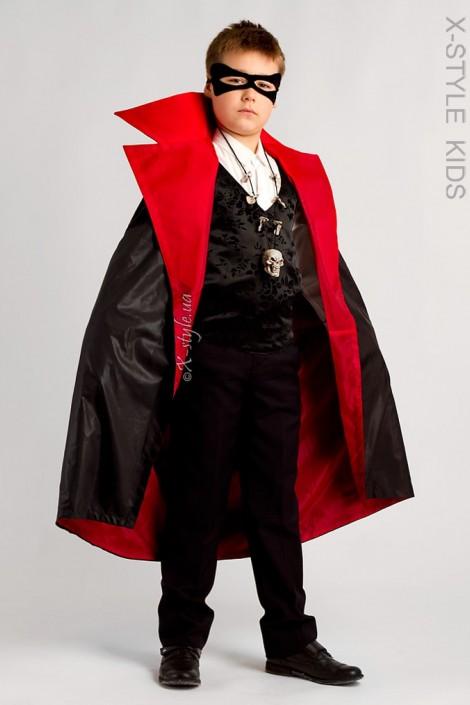 Карнавальный плащ вампира для мальчика X205 (222005)
