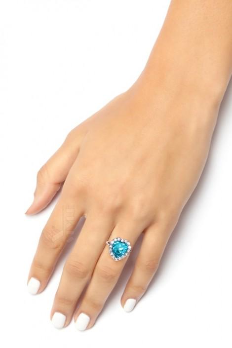 Кольцо с голубым камнем XJ8186 (708186)