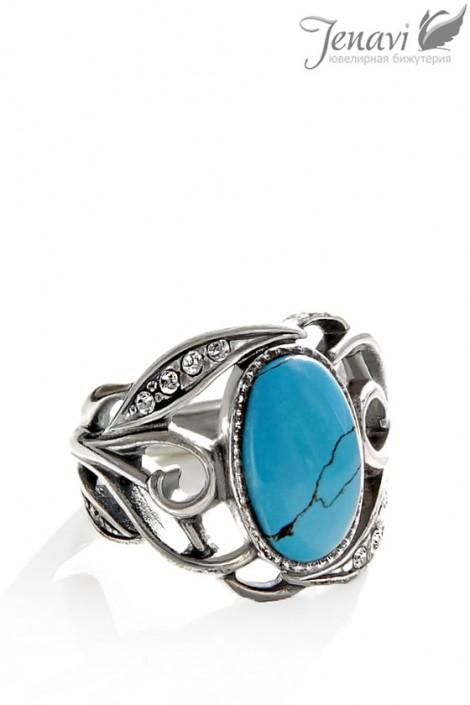 Кольцо с бирюзой J6273 (jene62730b)
