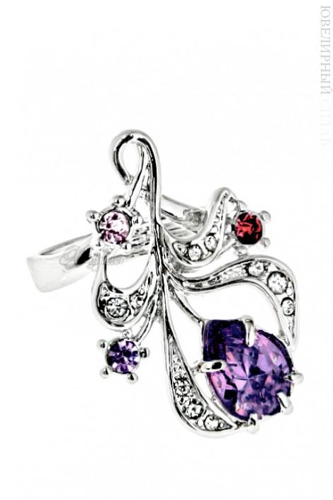 Кольцо с разноцветными камнями (jenj151b0a5)