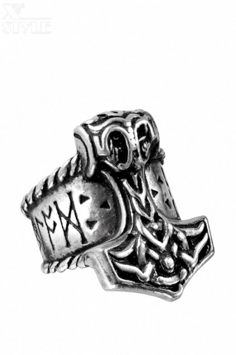 Кольцо Молот Тора (ручная работа) (AGR171)