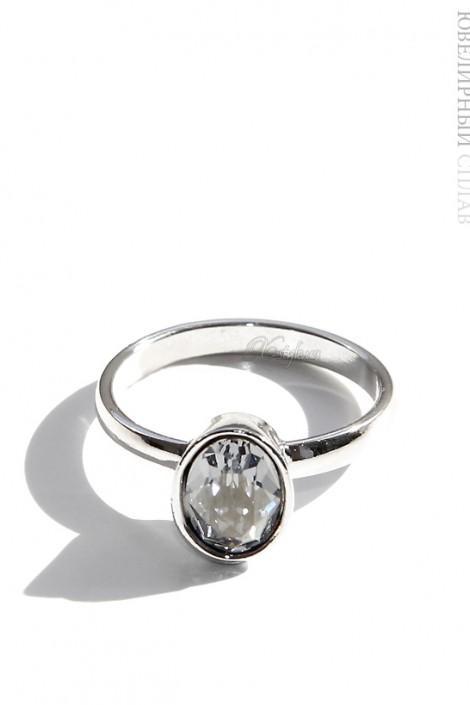 Овальное кольцо с камнем Swarovski (jenb0251fg)