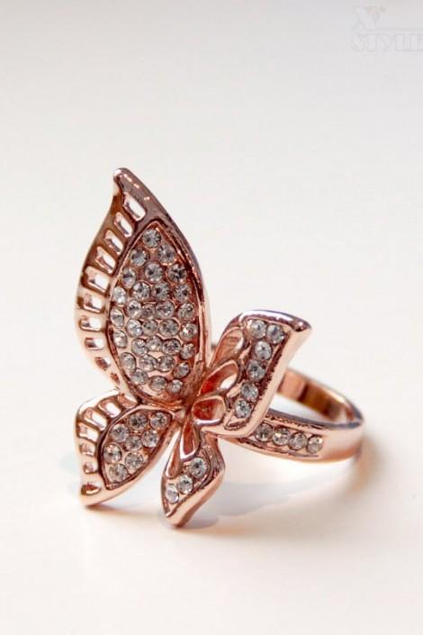 Позолоченное кольцо с камнями Aneis (708183)