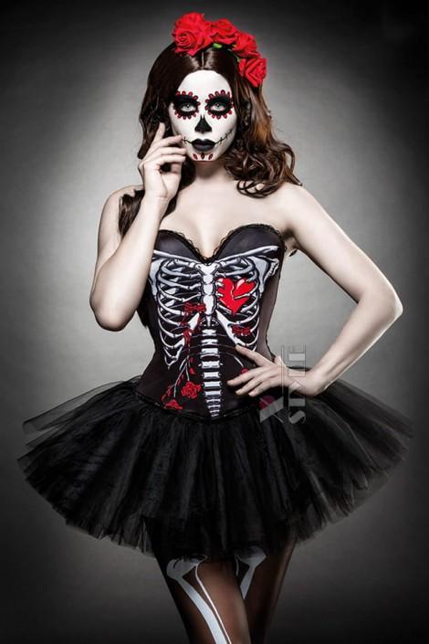 Корсет на Хэллоуин Skull Senorita (121143)