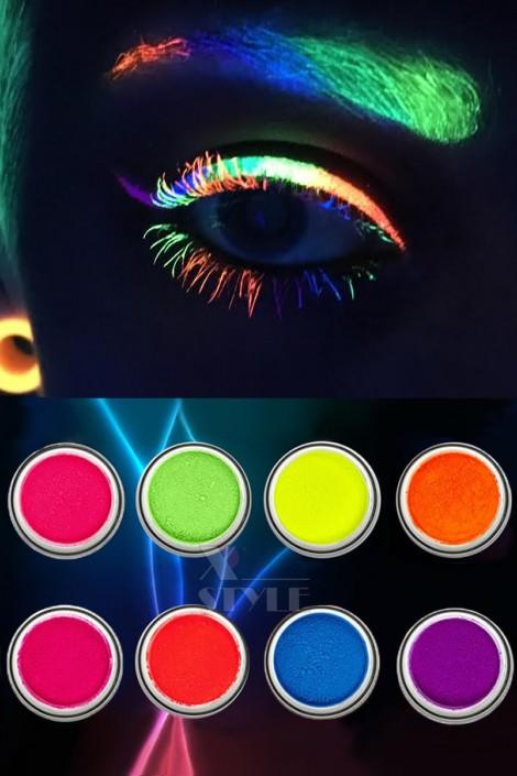 Неоновые UV-тени (8 цветов) (120007)