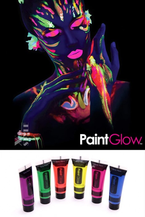 Неоновые краски для лица и тела (6 цветов) (120010)