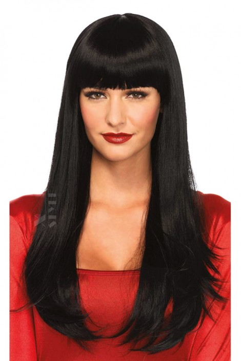 Длинный черный парик Cosplay Couture (503025)