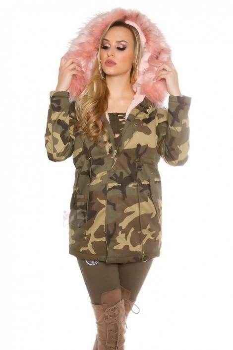 Камуфляжная зимняя куртка карго с мехом MF2130 (112130)