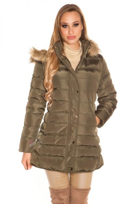 Зимняя женская куртка цвета хаки MF2135 (112135)