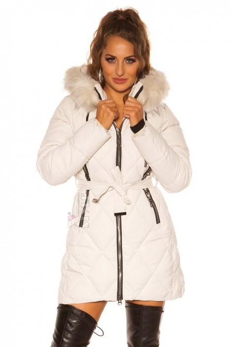 Зимняя куртка с капюшоном и мехом MF138 (112138)