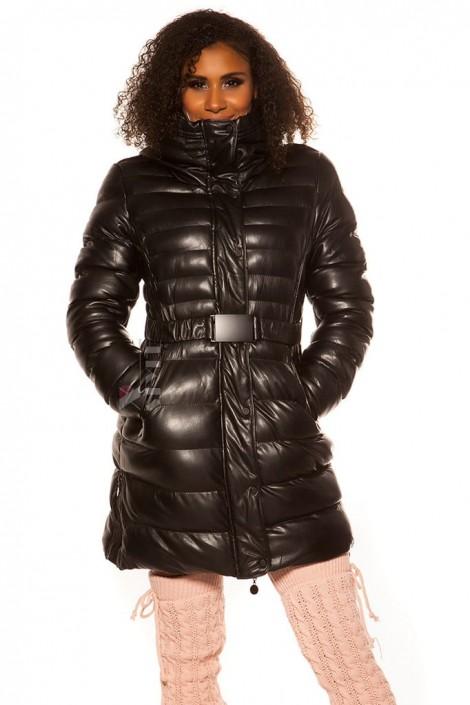 Зимняя стеганая куртка под кожу M139 (112139)