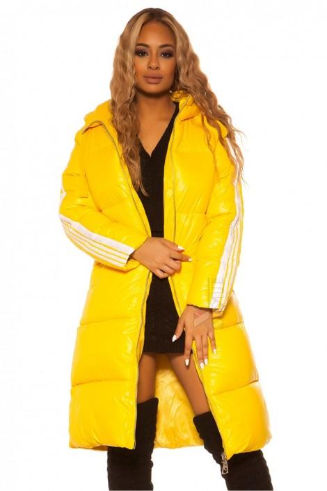 Удлиненная зимняя куртка с капюшоном M2140 (112140)