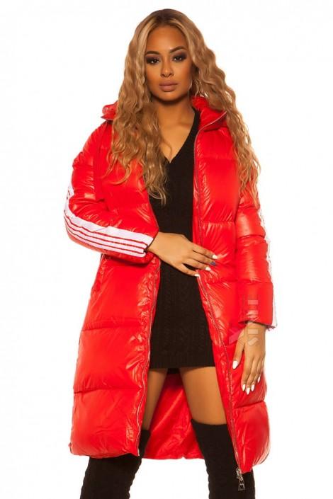 Красная зимняя куртка с лампасами M2142 (112142)